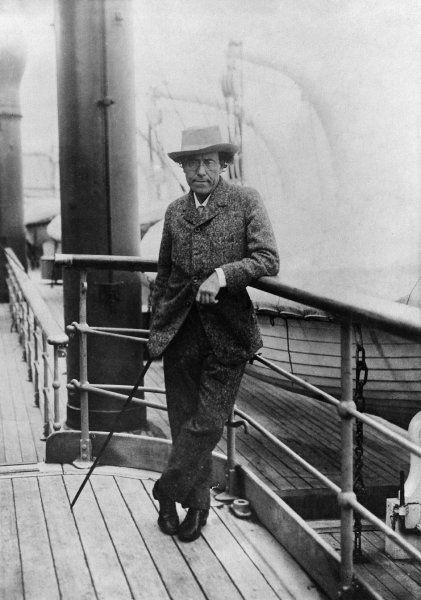 Unterwegs für die Musik:  Der österreichische Komponist Gustav Mahler pendelte...