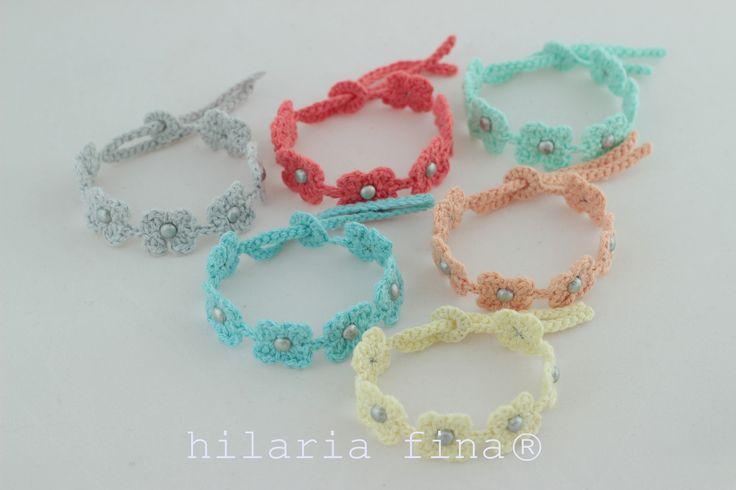 hf Crochet Bracelet Summer Tiny Flower ❥ 4U //