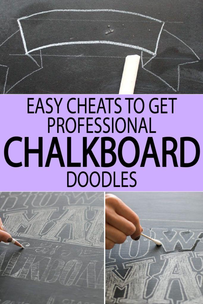 easy cheats to get a professional chalkboard look amanda