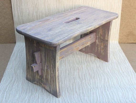 Wooden Step Stool Distressed #Footstool & 20 best step stool images on Pinterest | Step stools Wood and ... islam-shia.org