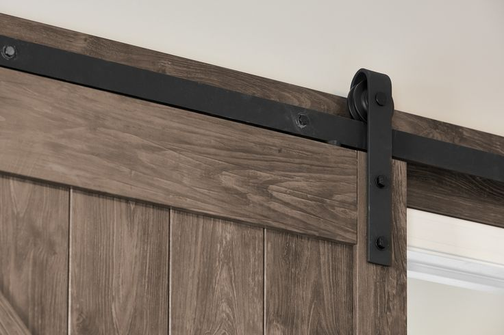 This stunning barn door in our Chappelle Gardens show home is from @TheHomeDepot, http://bit.ly/2llhLZJ.
