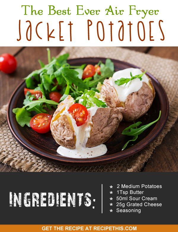 the best ever air fryer jacket potatoes :) lets spread the #airfryer love!