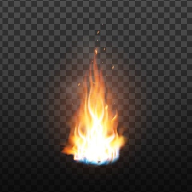 Animation Burning Fire With Sparks Effect Vector Vector And Png Blue Background Images Love Background Images Fire Vector