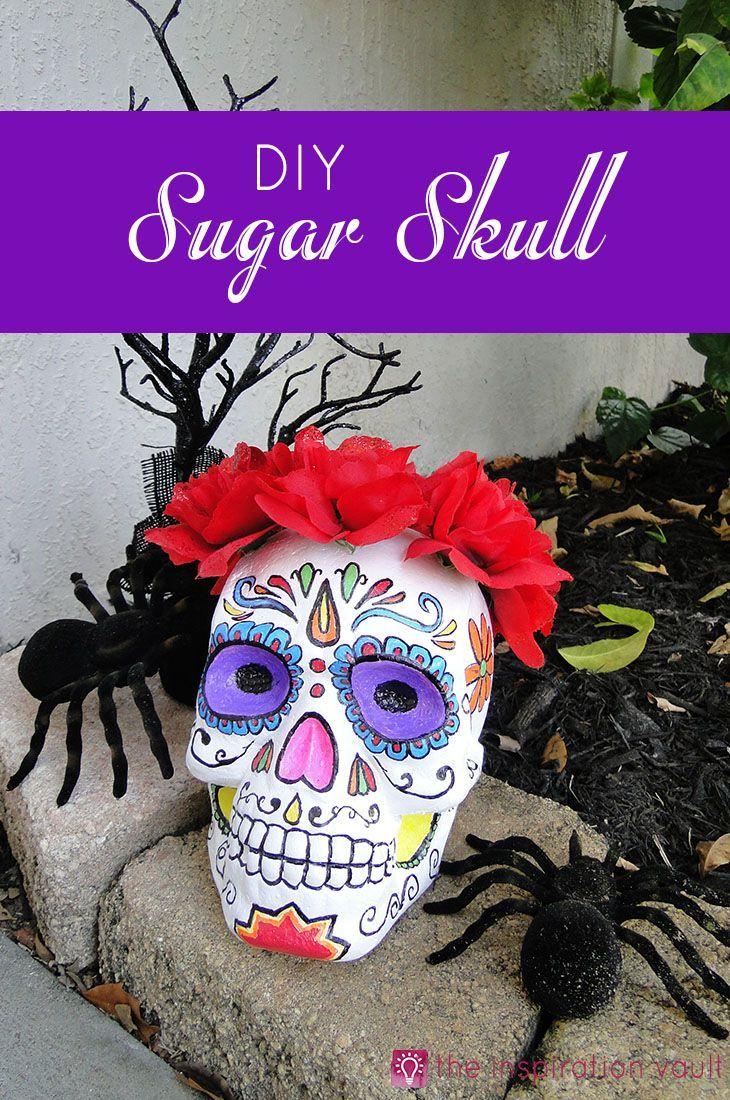 DIY Sugar Skull Halloween Craft Project Day of the Dead