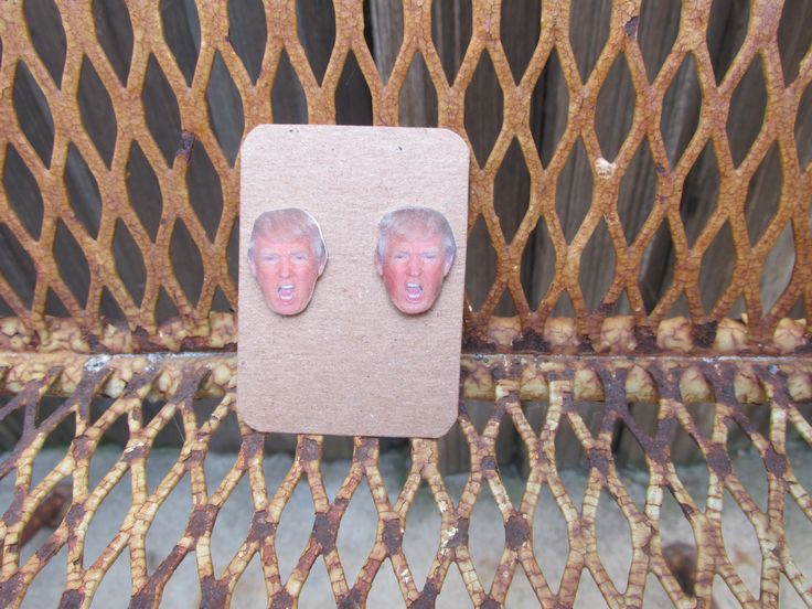 Donald Trump Face Earrings - Donald Donald Trump Earrings - Angry Donald Trump - presidential election 2016 - candidates 2016 by 3rdTimeCharms on Etsy