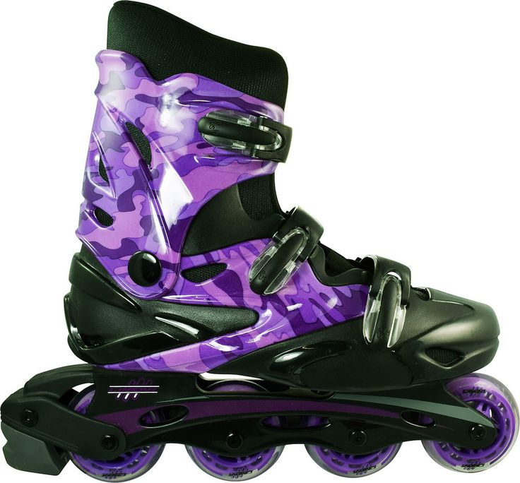 Linear Purple Camo Inline Skates - Indoor Outdoor Roller Blades #RCSPORTS