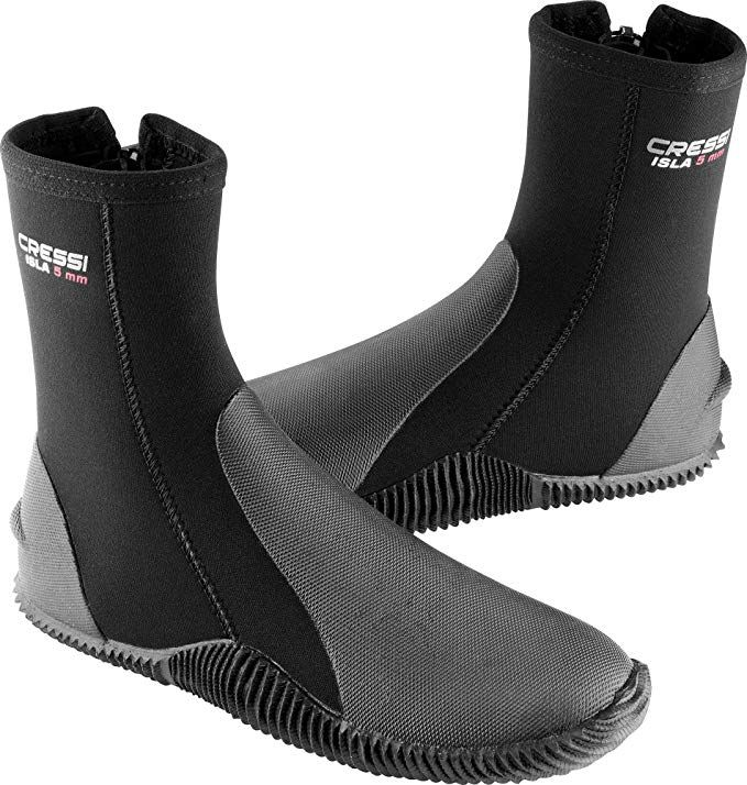 MINORCA made by Cressi Tall Neoprene Water Sport Boots with Sole quality since 1946