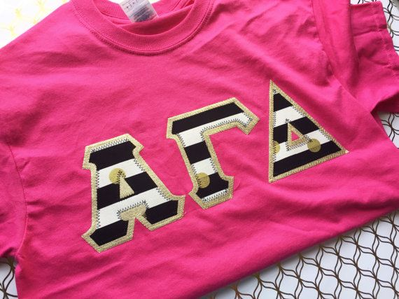 Greek Letter Shirt Alpha Gamma Delta letters, Delta Gamma Letters, Phi Mu Letters, ADpi letters, Kappa Delta Letters