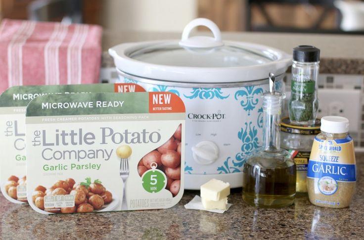 Slow cooker garlic and Parmesan potatoes