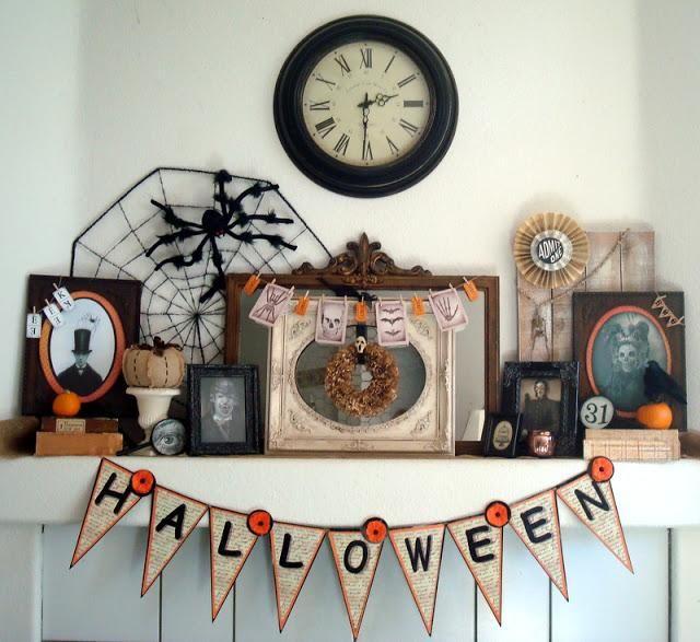 halloween decorations ideas inspirations my vintage victorian halloween mantel - Victorian Halloween Decorations