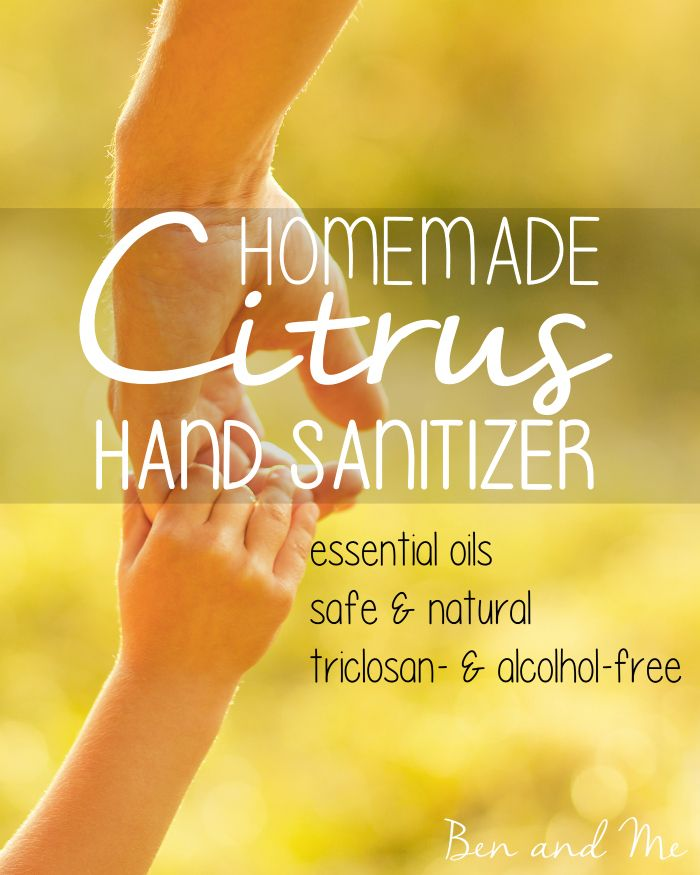 Lemon essential oil may be the most powerful anti-microbial agent of all the essential oils, which is why I include it in my homemade hand sanitizer.