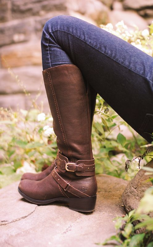 UGG Australia's equestrian leather boot for women - the #Esplanade  #Fall #boot