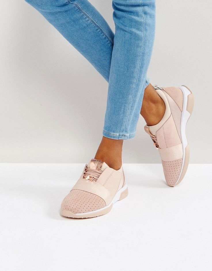 TED BAKER CEPA BLUSH SNEAKERS - PINK. #tedbaker #shoes #