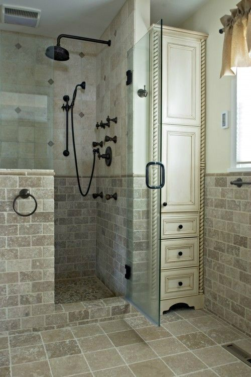 Best 25+ Half Wall Shower Ideas On Pinterest | Bathroom Showers, Open  Showers And Rustic Bathroom Shower