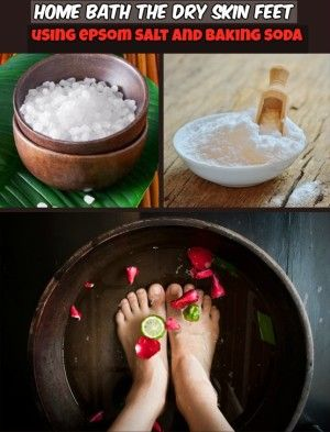 Read directions and learn how to make home bath the dry skin feet.