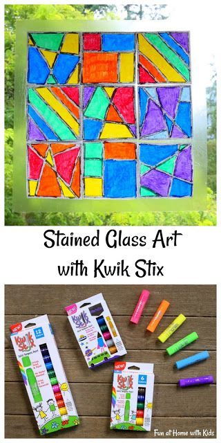 Stained Glass Art with Kwik Stix {FREE printable templates!} from Fun at Home with Kids
