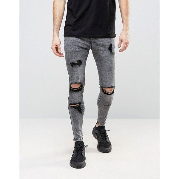 SikSilk Super Skinny Jeans With Distressing (€70) ❤ liked on Polyvore  featuring men's - Best 20+ Mens Distressed Skinny Jeans Ideas On Pinterest Mens