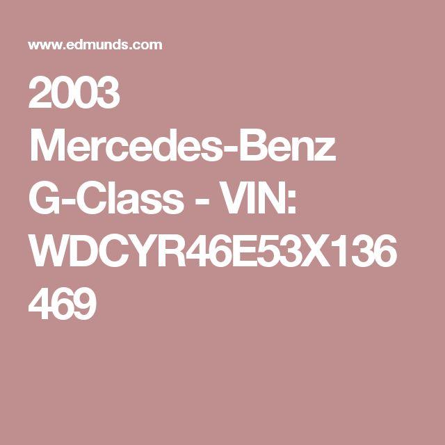 2003 Mercedes-Benz G-Class - VIN: WDCYR46E53X136469