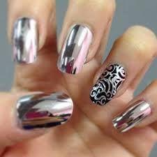 Resultado de imagen para uñas con barniz efecto espejo
