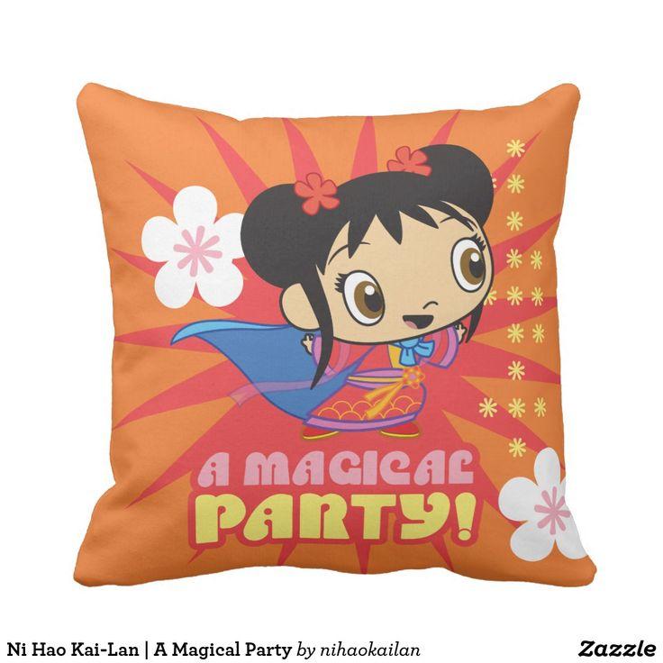 Ni Hao Kai-Lan | A Magical Party. Producto disponible en tienda Zazzle. Decoración para el hogar. Product available in Zazzle store. Home decoration. Regalos, Gifts. #cojín #pillows