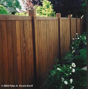 Craftsman / Greene & Greene Style Wood Fencing - Pasadena, South Pasadena, Altadena, Monrovia, La Canada, Hancock Park