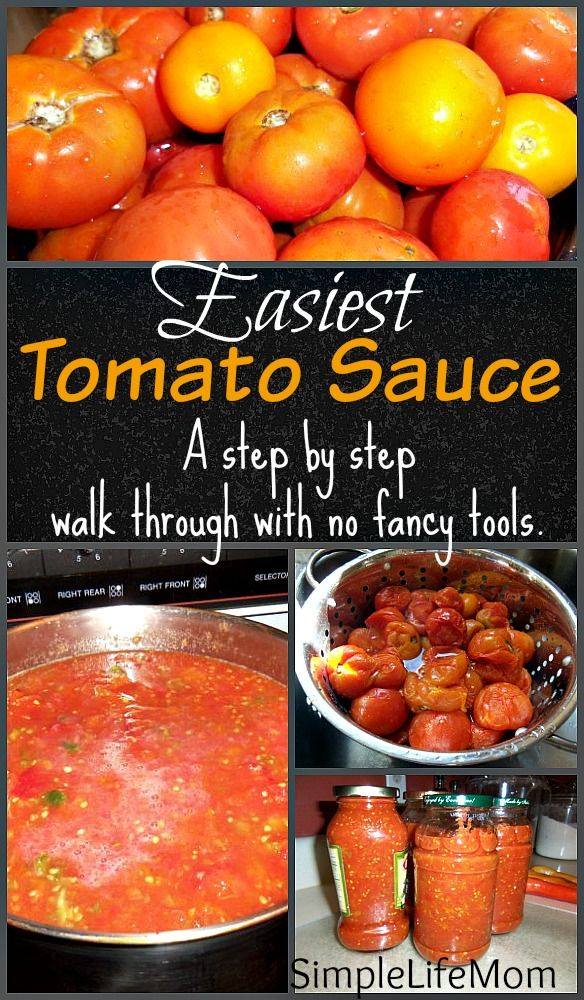 Easiest Tomato Sauce ever from scratch by following this simple walk through. A great way to process and save a tomato harvest by making marinara sauce.