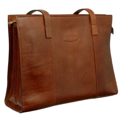 Maxwell Scott Scala- Grand cabas italien marron clair - Le Sac en Cuir