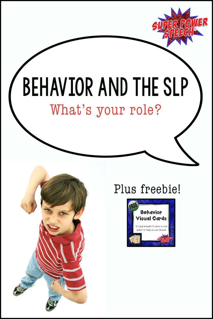 SLPs have important roles in helping students with behavior difficulties. This post explains some of the most crucial things that SLPs can do to help these challenging students. Plus, link to a freebie of behavior visual cards!