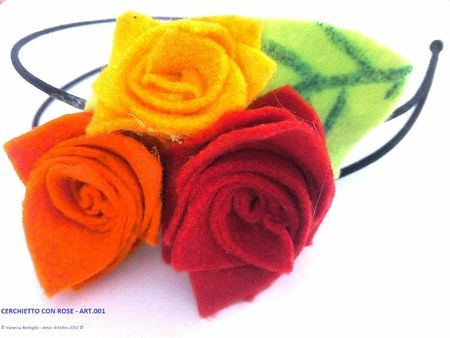 Cerchietto con rose personalizzabile - ART.015
