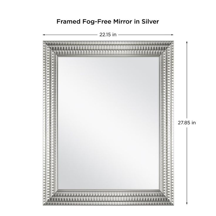 Home Decorators Collection 22 In X 27 In Framed Fog Free Wall Mirror In Silver 45384 The Home Depot Bathroom Vanity Mirror Mirror Framed Mirror Wall