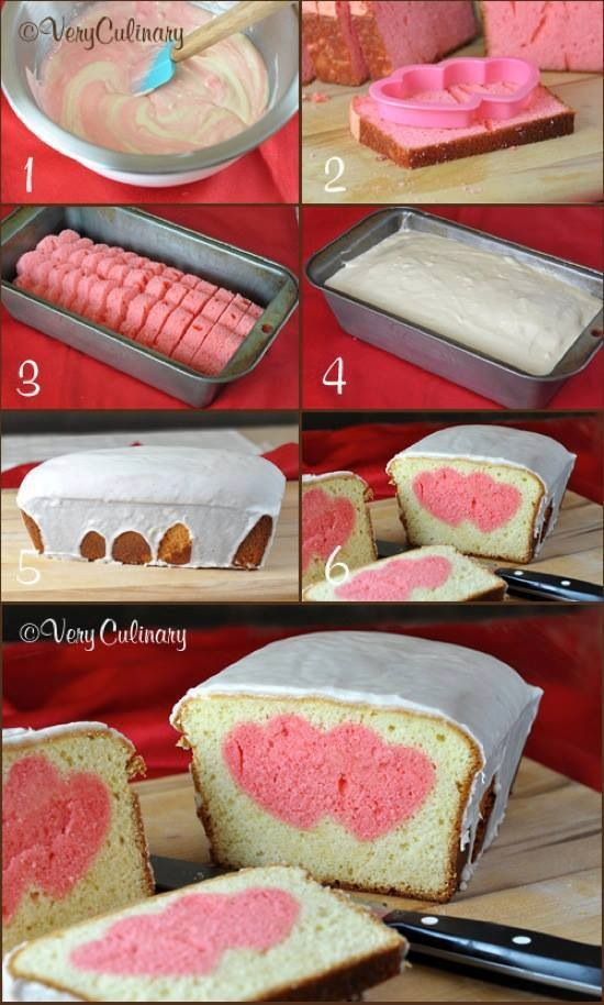 DIY bread with surprise hearts inside