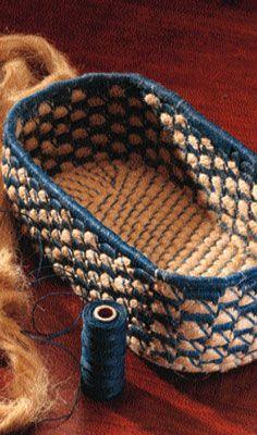 DIY Flax Basket