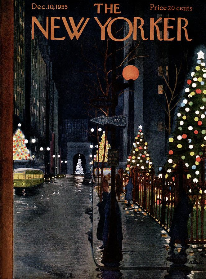 The New Yorker Christmas Cover 2020 New Yorker December 10th, 1955 by Alain in 2020 | The new yorker