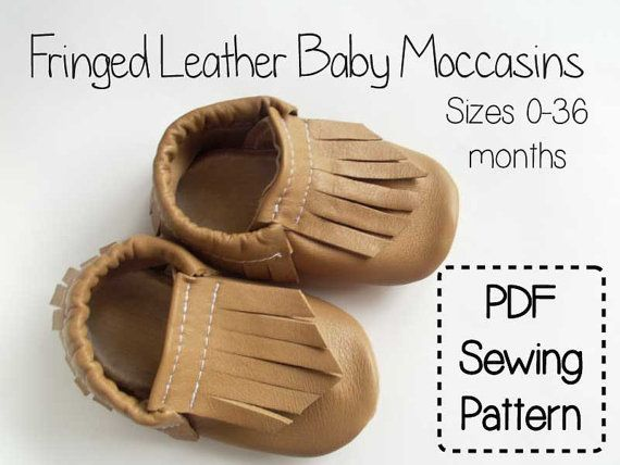 how to make leather baby moccasins