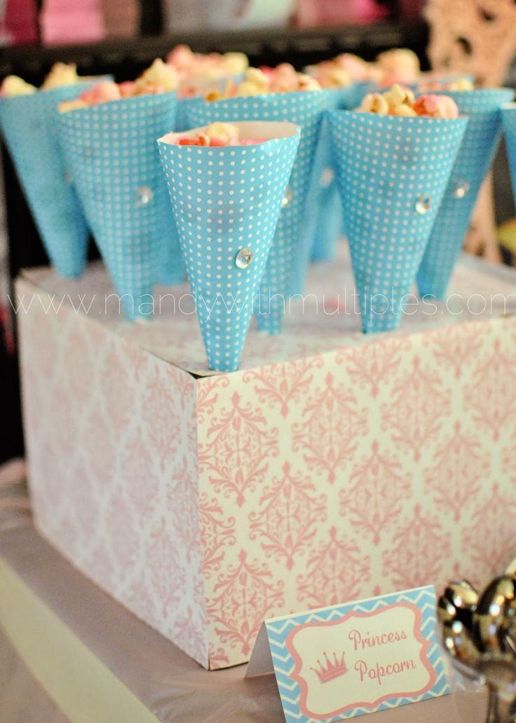 "Princess Party Food - ""princess popcorn"""