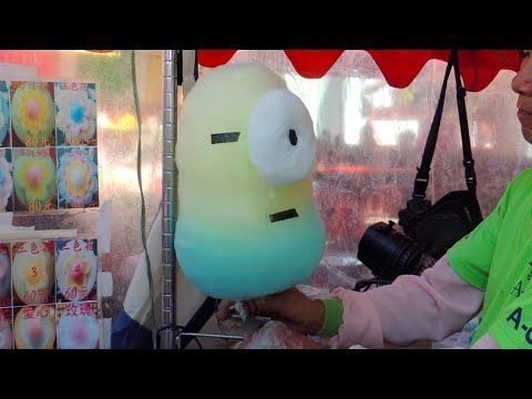 Incredible Cotton Candy Art: Despicable Me Minions, Duck, Pig, Bear, Flower - YouTube