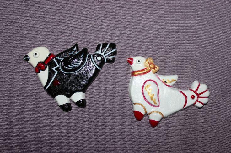 """Тили-тили-тесто """"Жених и невеста"""" - керамические елочные игрушки сделаны и расписаны вручную. Цена за 1 шт -  420 рублей"""