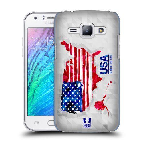 Pouzdro na mobil Samsung Galaxy J1 HEAD CASE GEOMAPA USA