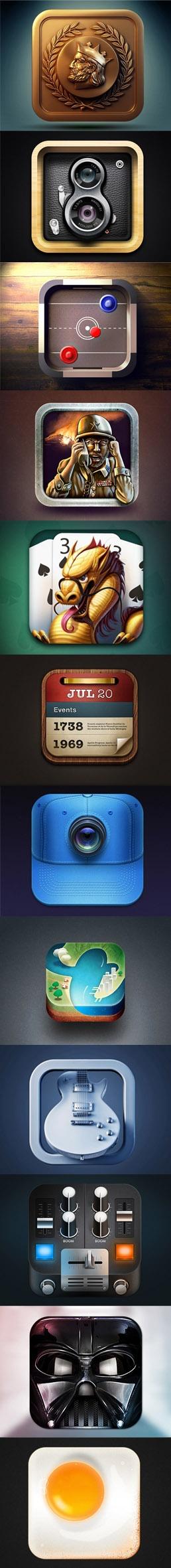 45 Fresh Examples Of iOS App Icon Designs graphicdesignjunc…