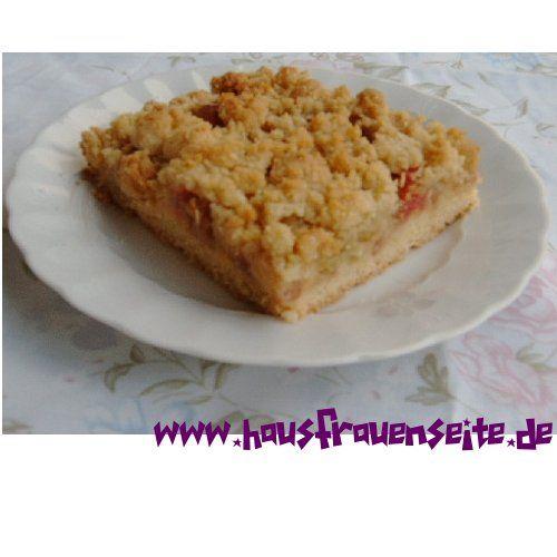 Rhabarberkuchen mit Streusel vom Blech (Favorite Cake Desserts)