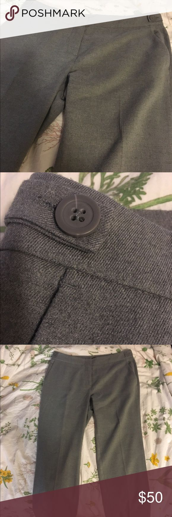 Couture Grey Slacks Work Pants Gorgeous and buttery soft couture Paris BCBG grey slacks, perfect for work. Worn once. In pristine condition. BCBG Pants Straight Leg