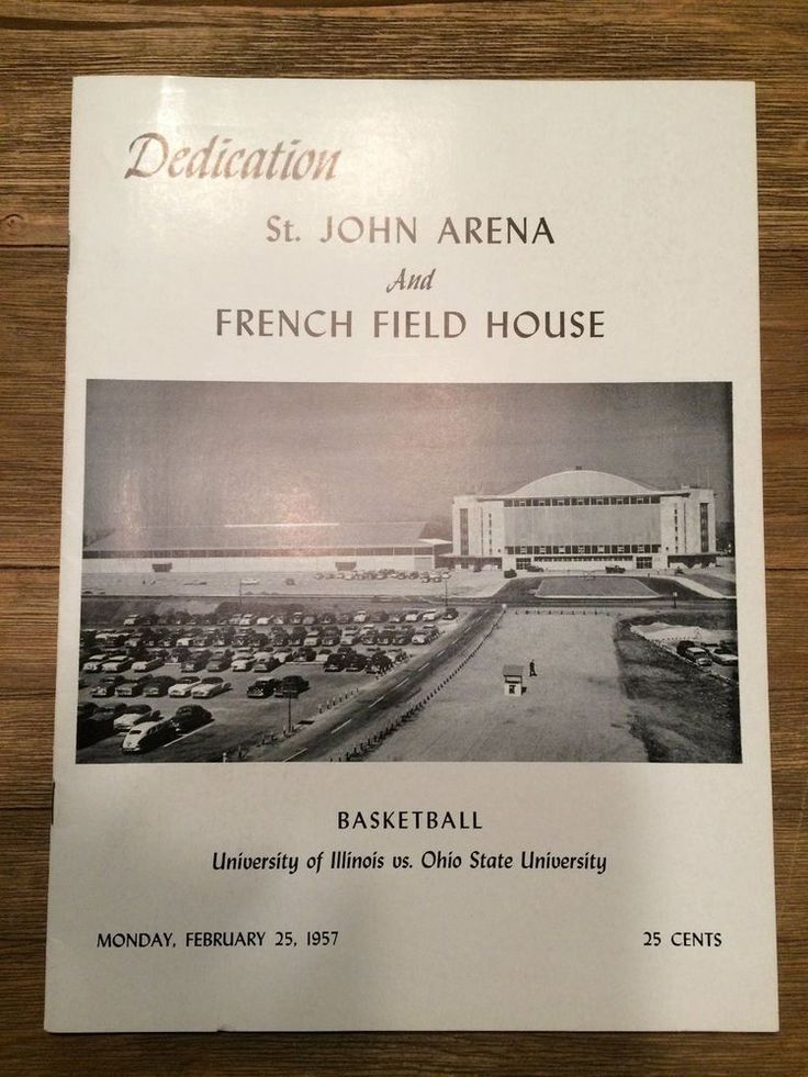 1957 ohio state basketball dedication st john arena 1st game program mint !!!! from $169.99