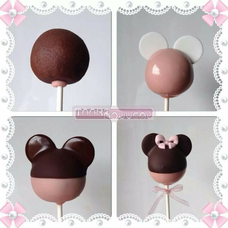 Minnie mouse cake pop