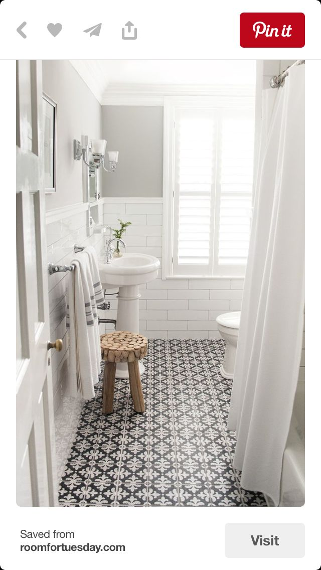 Love this tile and color scheme but not the sink.