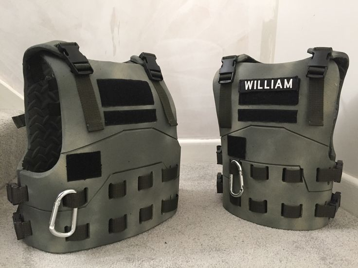 Kids tactical body armour made from Eva foam Nerf body ...