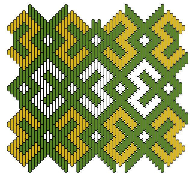 Medieval Arts & Crafts: Brick stitch pattern #15. [Kathy Stormberg's blog]