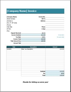 Wedding Services Invoice DOWNLOAD at http://www.excelinvoicetemplates.com/wedding-services-invoice/