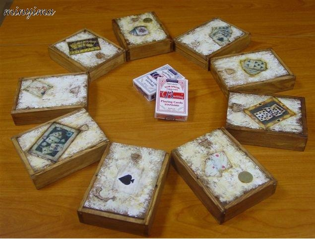 Box of poker cards