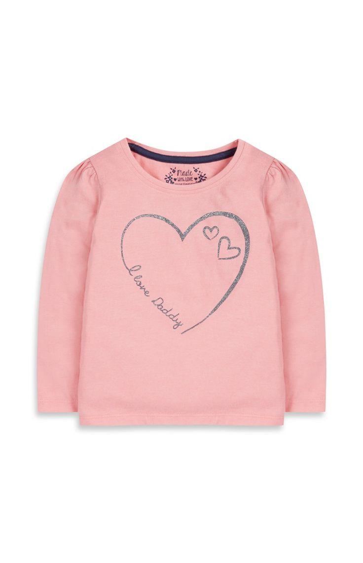 Primark - Roze trui met Love Daddy-print