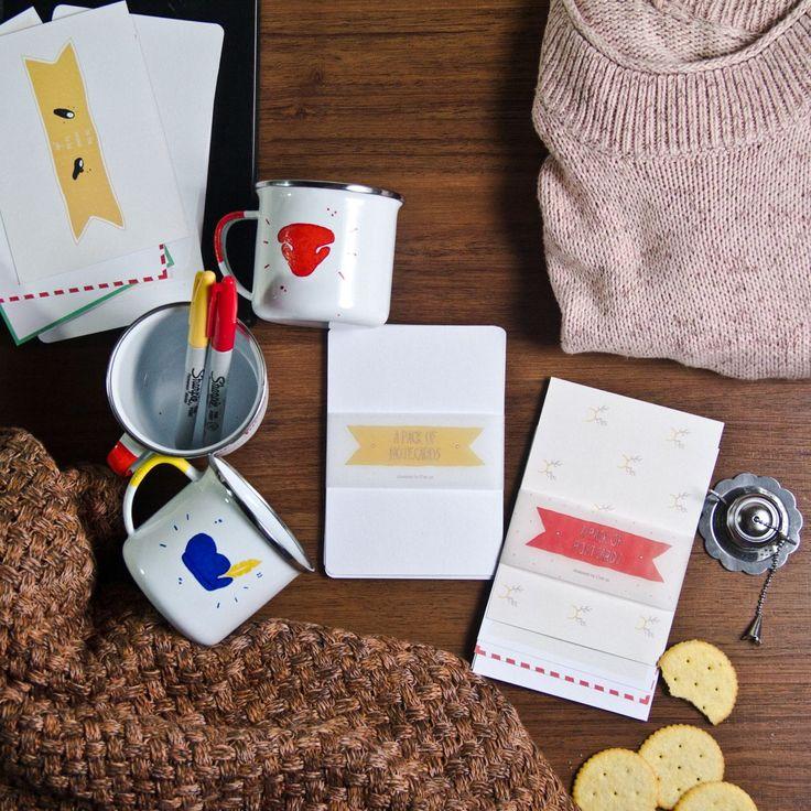 Our kind of Christmas essential #cestca #enamelmug #enamelware #handicraft #handmade #christmas #gift #christmasgift #giftideas #greetingcard #postcard #notecard